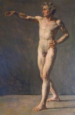 Academic Male Nude by Anonymous