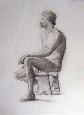 Seated Male Study by Atelier Eugene Claude