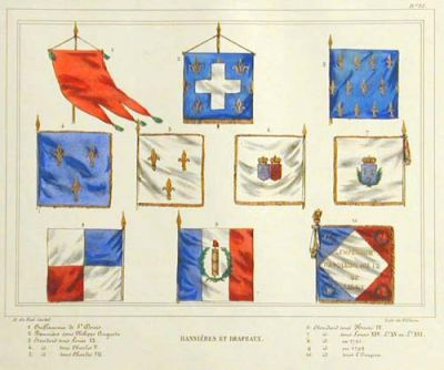 Royal French Banners and Flags by H. de Viel-Castel