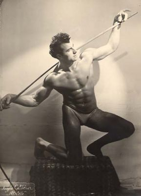 French Male Athlete by Anonymous