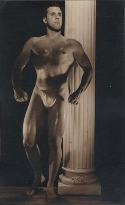 Cuban Male Athlete by Column by Karoll of Havana