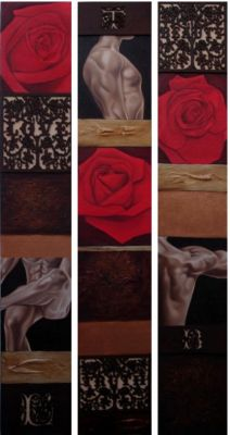 Love, Truth, Beauty - Triptych by Moxy Hart