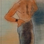 Standing Semi Nude Male by Deschler