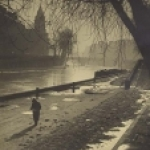 Walking by the Seine by Albert Monier