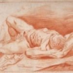 Male Nude Laying  by Anonymous